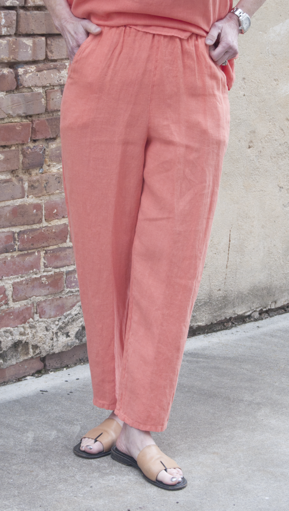 Match Point Narrow Leg Pant in Coral