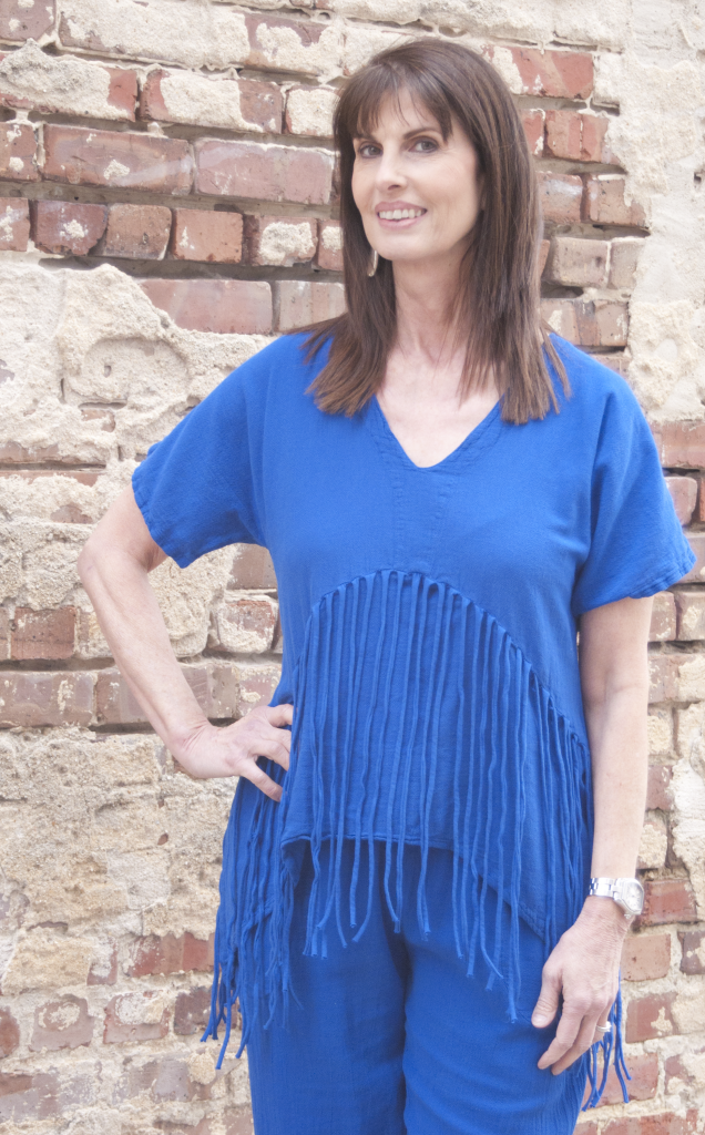 Oh My Gauze! Gypsy top in Indigo