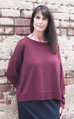 EILEEN FISHER BATEAU NECK BOX TOP IN MERINO JERSEY