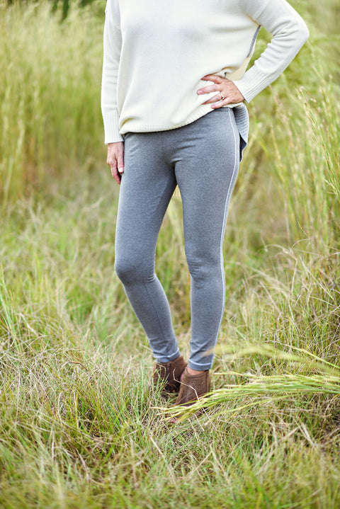 Eileen Fisher Heathered Organic Cotton Jersey Leggings