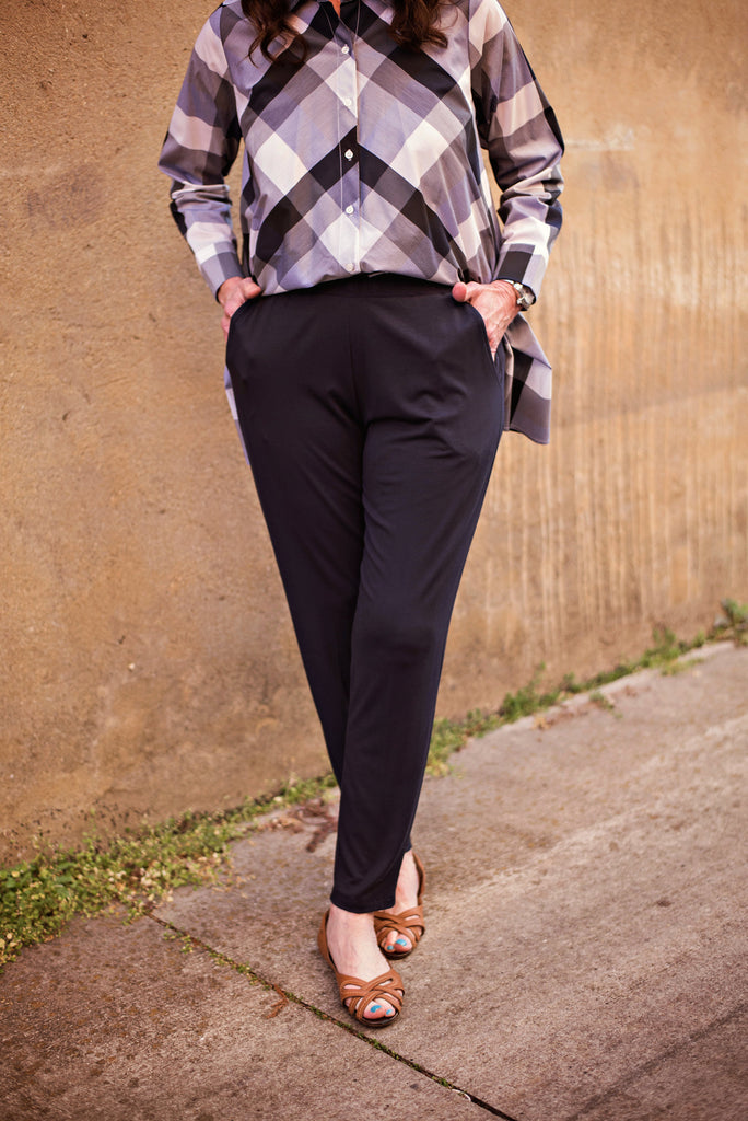 Comfy Slouch Slim Long Pants In Navy