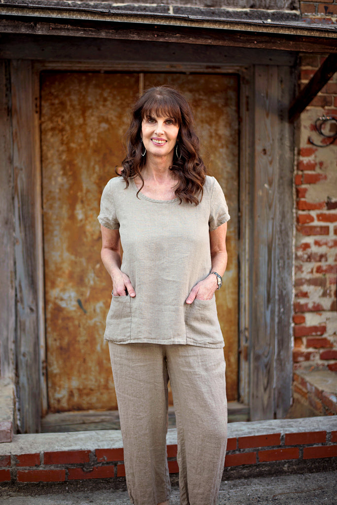 Flax Cool Top In Natural