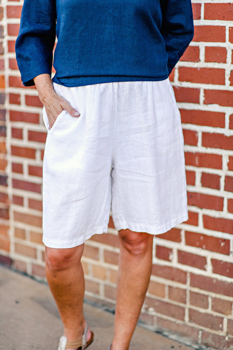 Flax Sun Shorts in White