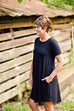 On The Go Tunic Dress in Black