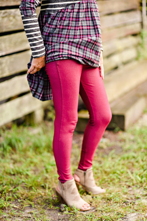 Nest Best Jegging in Burgundy