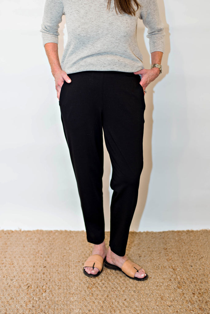 4a7c75ae479b8c Eileen Fisher Organic Cotton Stretch Jersey Slim Slouchy Ankle Pant ...