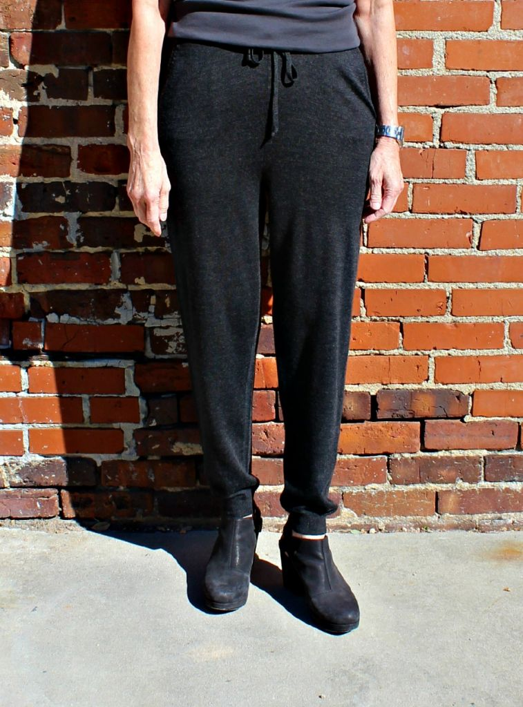 Eileen Fisher Drawstring Slouchy Pant in Merino Jersey