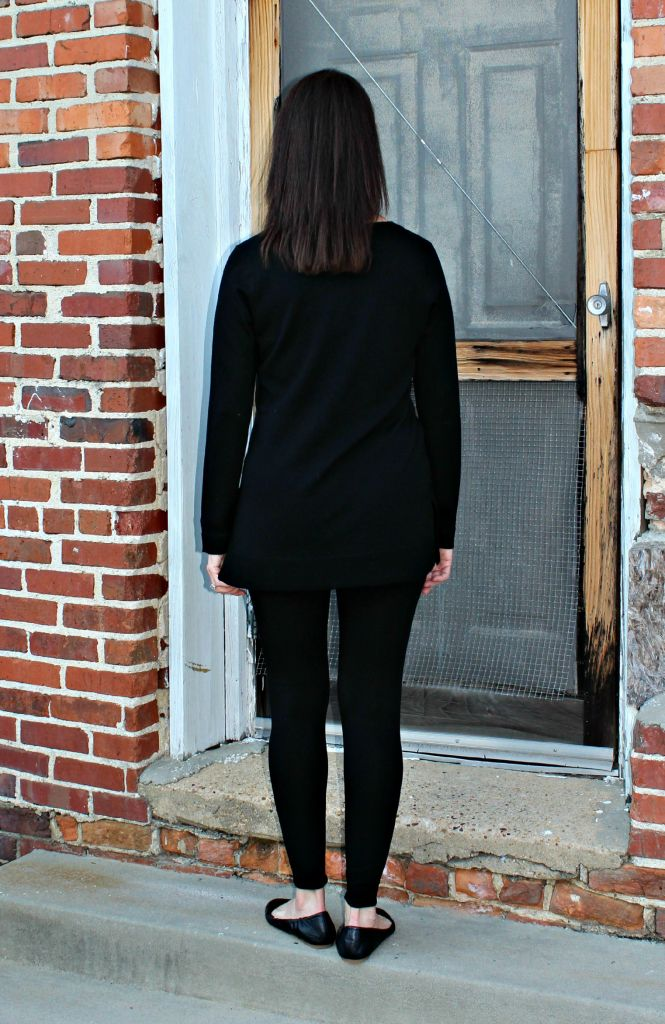 7fb0e3559fea3 Eileen Fisher V-Neck Jersey Tunic Tee in Black – RobinsNest