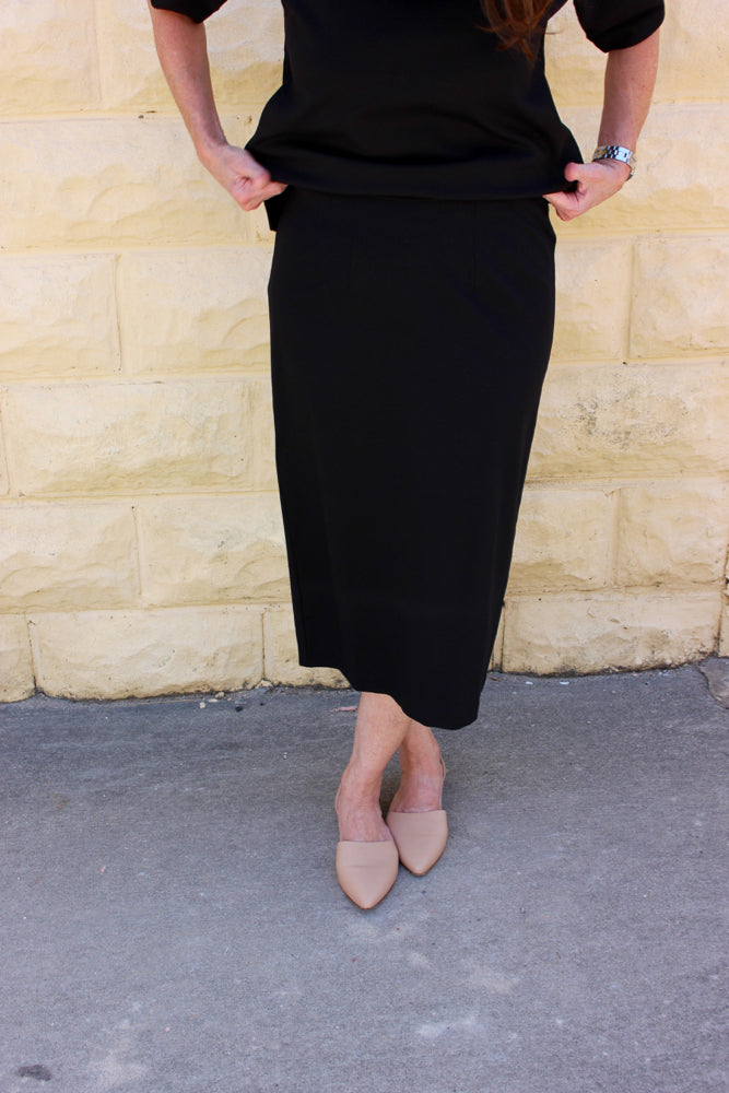 Eileen Fisher System Pencil Skirt in Viscose Stretch Ponte