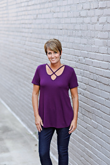 Perfect Ten Top in Plum