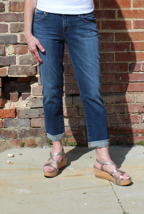 Eileen Fisher Boyfriend Jean in Organic Cotton Stretch Denim