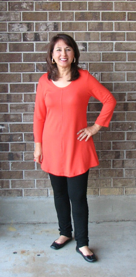 Flax In Motion Tunic in Poppy