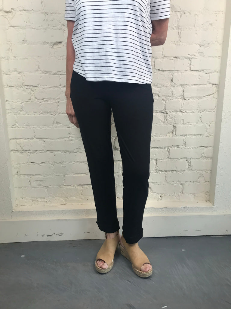 Eileen Fisher Slim Ankle Pant in Viscose Jersey
