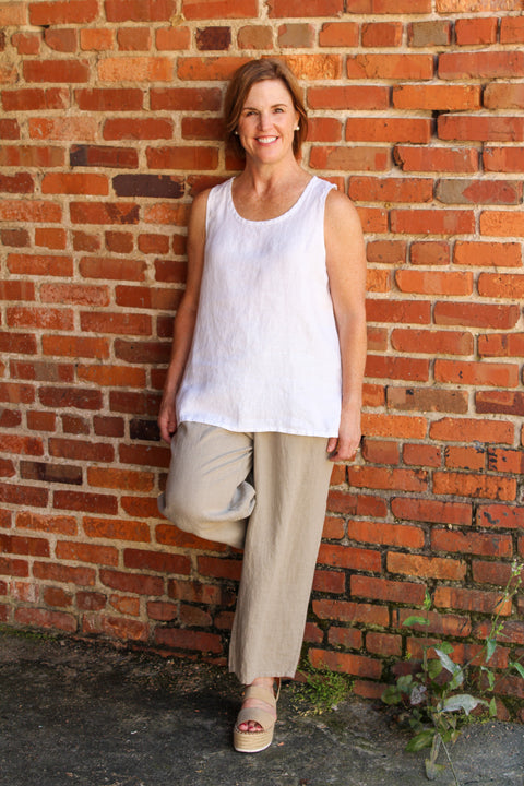 Flax Fundamental Tank in White