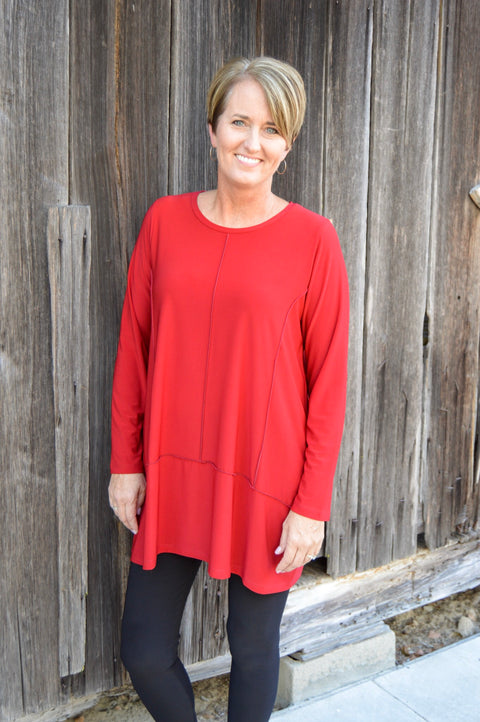 Sun Kim Isabel Tunic in Lipstick