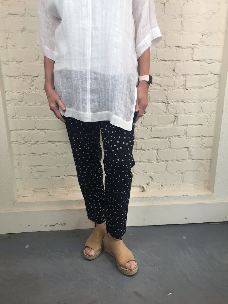 Eileen Fisher ORGANIC COTTON STENCIL PRINT SLOUCHY PANT