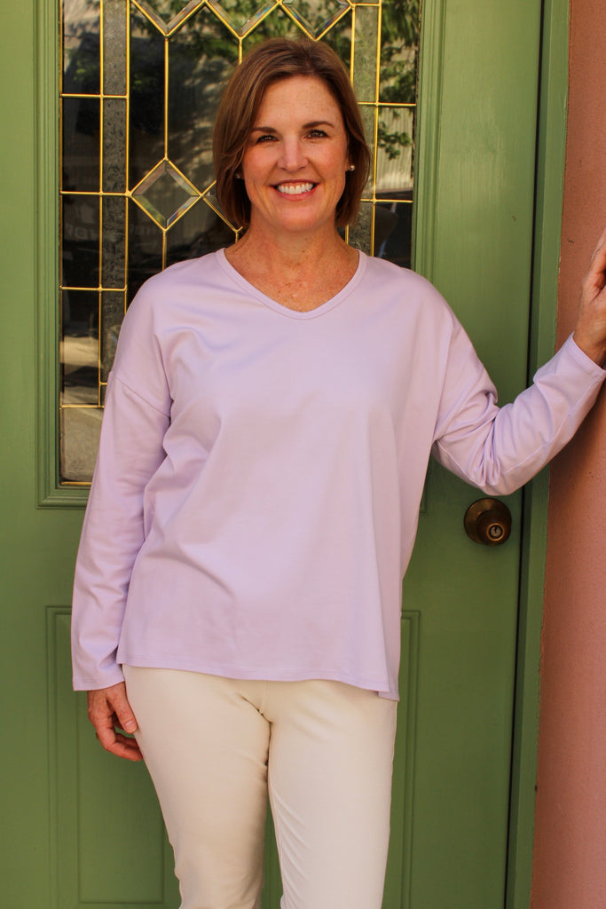 Eileen Fisher Organic Cotton Stretch Jersey in Wisteria