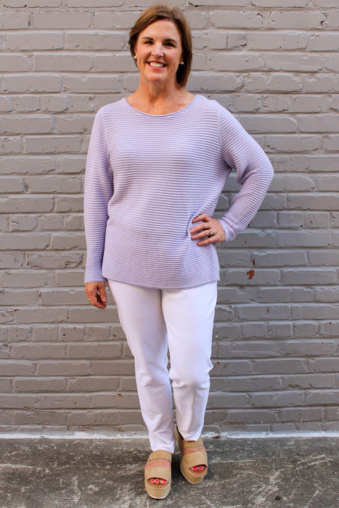 Eileen Fisher Organic Linen Cotton Box Top in Wisteria