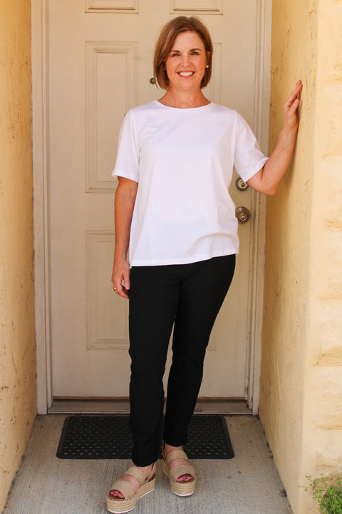 EILEEN FISHER ORGANIC COTTON JERSEY CREW NECK TEE