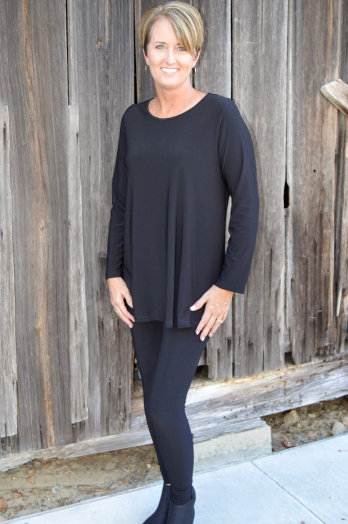 Sun Kim Long Sleeve Tunic in Black