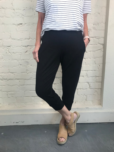 Eileen Fisher Slouchy Crop Pant in Viscose Jersey