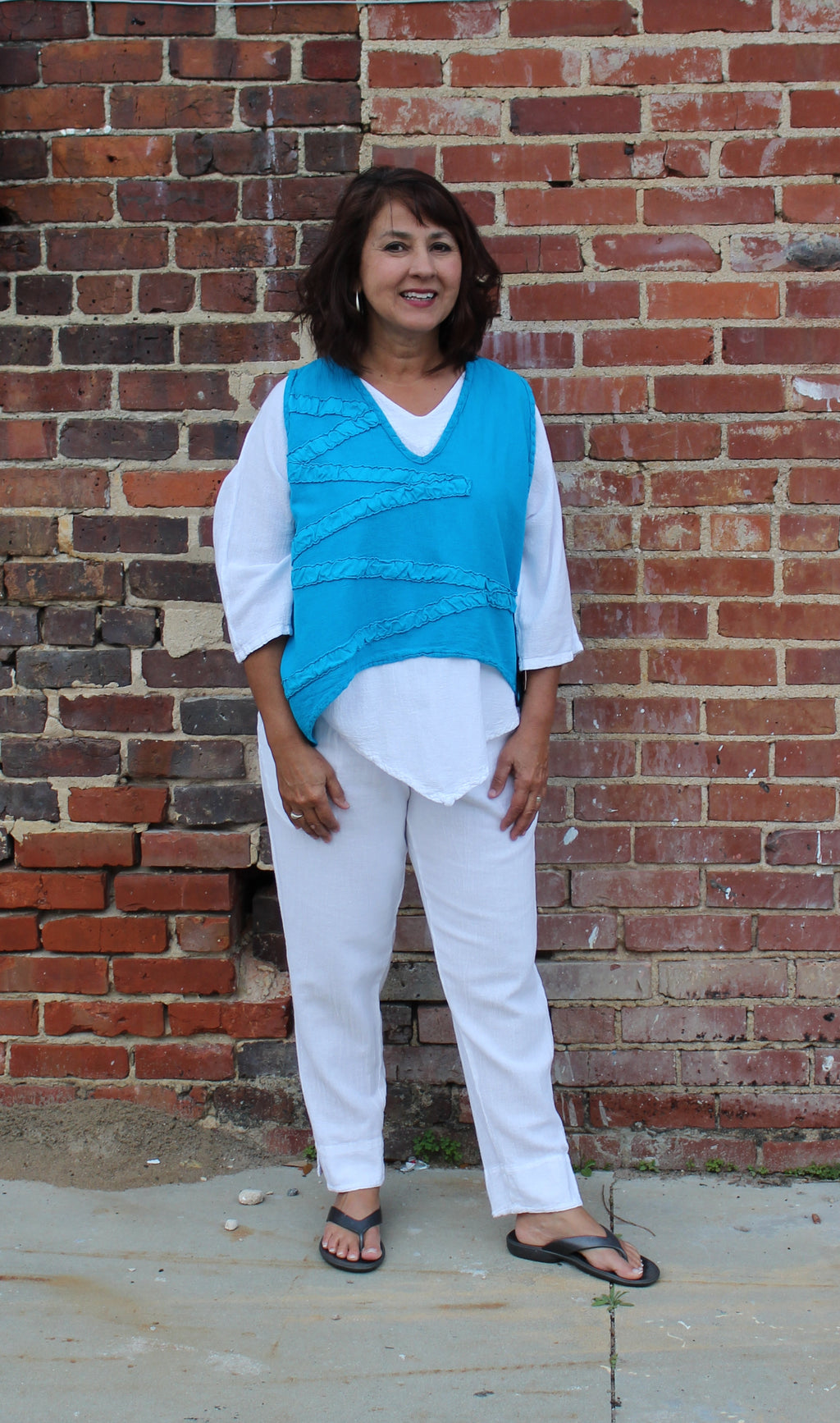 Oh My Gauze! Star Vest in Turquoise