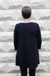 Eileen Fisher Crew Neck Tunic in Fine Tencel Jersey in Black