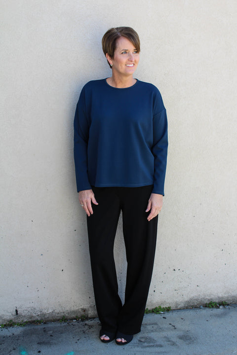 EILEEN FISHER FLEX TENCEL PONTE STRAIGHT PANT