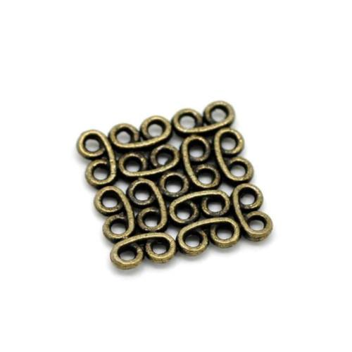 Antique Bronze Double Sided Square Celtic Knot Connector Links 15mm - BEADED CREATIONS
