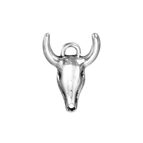 Antique Silver Tau Ox Head Bull Head Bohemian Charms 21mm - BEADED CREATIONS