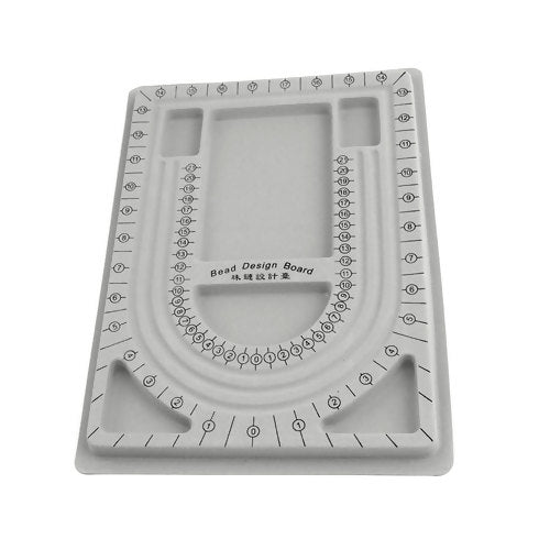 Bead Board, Flocked, Plastic, Grey, Rectangle, 32.7x24cm. Sold Individually - BEADED CREATIONS