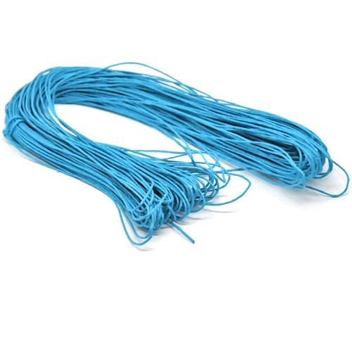 Beading Cord, Waxed Cotton Cord, 1.5mm, Blue. Sold Per Meter - BEADED CREATIONS