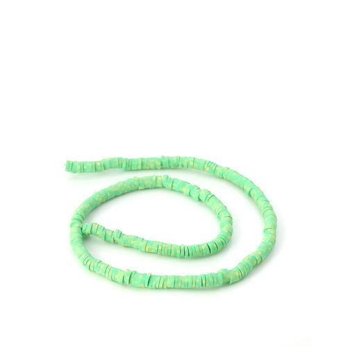 Beads, Polymer Clay, Round, 5mm, Green, Katsuki. Sold Per Strand - BEADED CREATIONS