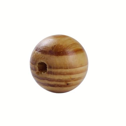 Beads, Wood, Pine, Natural, Striped, Round, 30mm. Sold Individually - BEADED CREATIONS