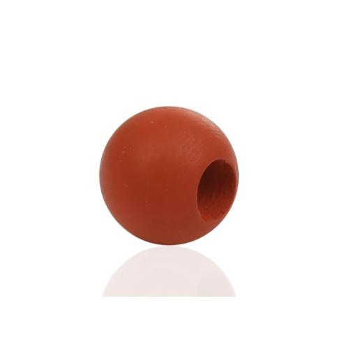 Beads, Wood, Round, Burnt Orange, 10mm. Sold Individually - BEADED CREATIONS