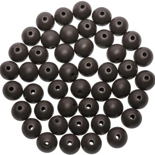 Beads, Wood, Round, Chocolate Brown, 14mm. Sold Individually - BEADED CREATIONS