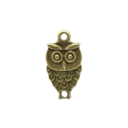 Connectors, Owl, Antique Bronze, Alloy, Link, 18mm. Sold Individually - BEADED CREATIONS