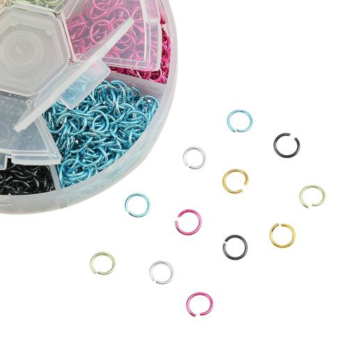 Jump Rings, Aluminum, Assorted Colors, Round, Open, Variety Pack, 6mm. Sold Per Container - BEADED CREATIONS