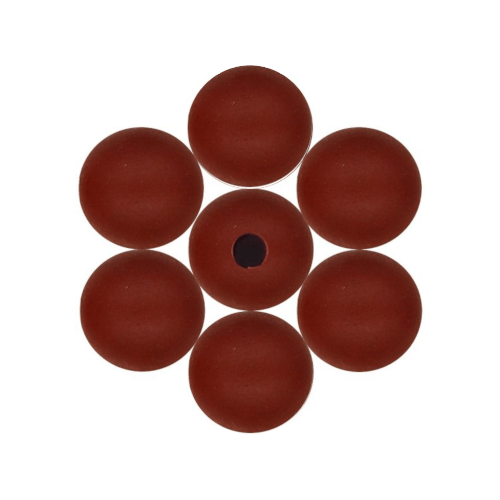 Beads, Wood, Round, Marsala, 14mm. Sold Individually - BEADED CREATIONS