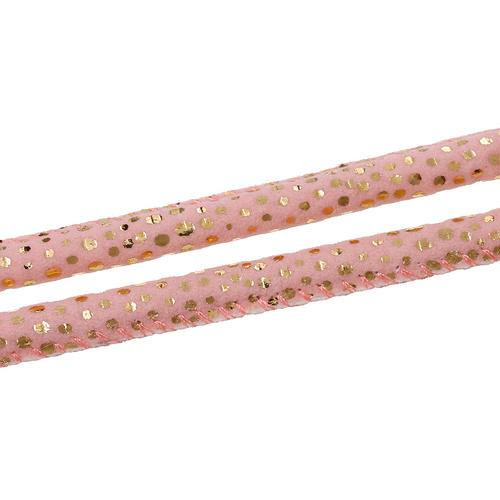 Pink Round Embellished Fabric Beading Cord 6mm - BEADED CREATIONS
