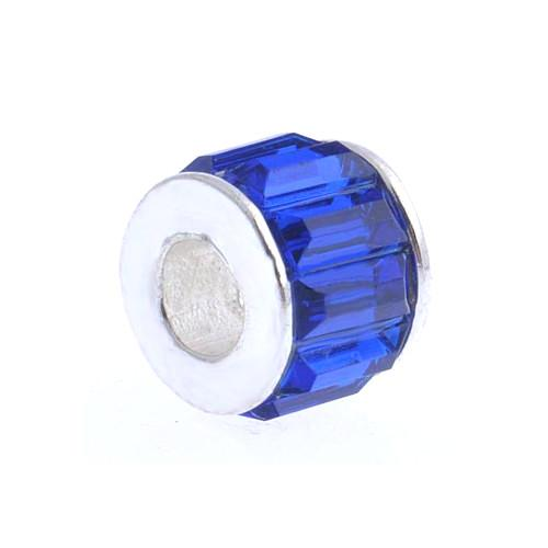 Royal Blue Faceted Rondelle Acrylic Large Hole Charm Beads - BEADED CREATIONS