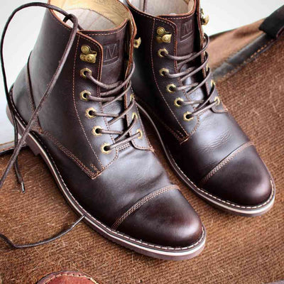 The Horseman Boot -Charcoal Brown