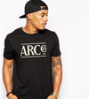 The ARC Tee -Cream on Black