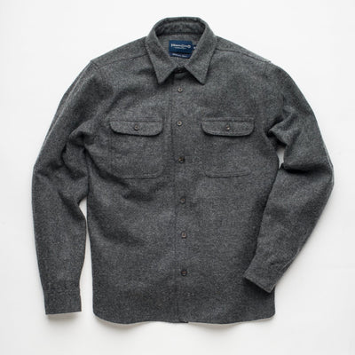 The Benson Shirt - Charcoal Herringbone