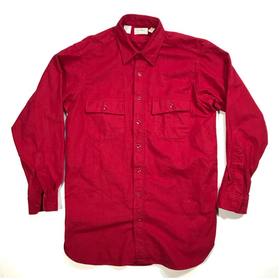 L.L. Bean Red Chamois Overshirt