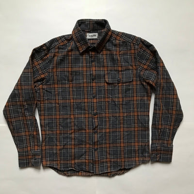 PO Crate Shirt in Gray/Orange Plaid