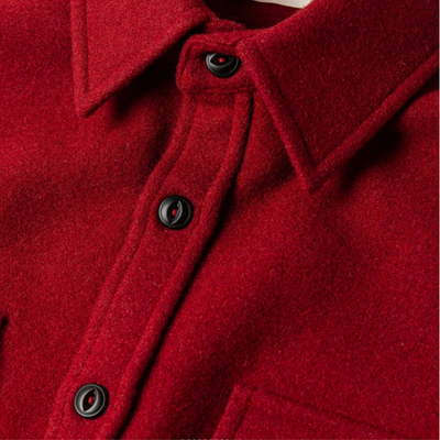 The Maritime Shirt Jacket in Clifford Red