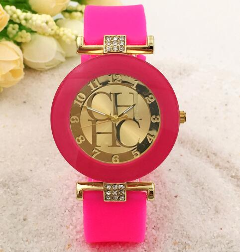 ladies fashionable new three silicone watches qq products eyes geneva silicon hot