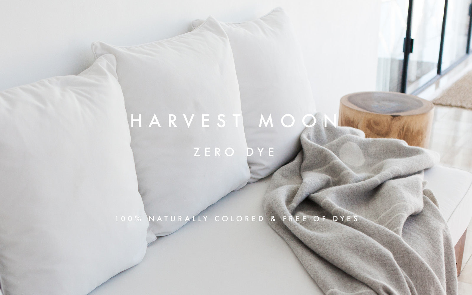Blacksaw Harvest Moon Zero Dye Reversible 100% baby alpaca throws and wall art