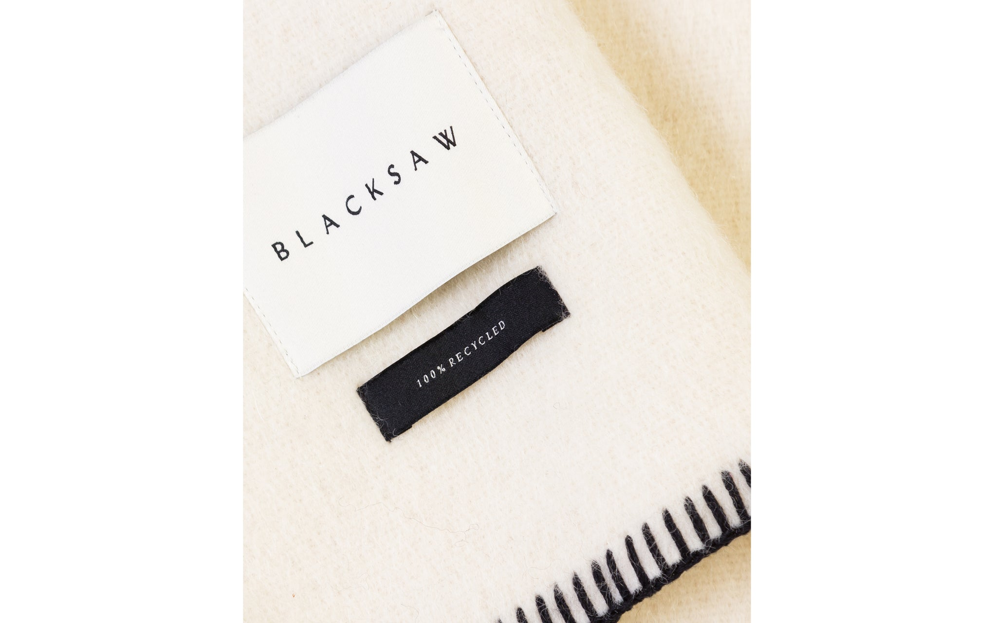 BLACKSAW SIEMPRE RECYCLED ALPACA BLANKET. A MINIMAL STATEMENT PIECE